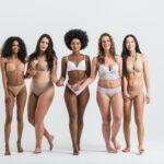 gruppo di donne con corpi diversi